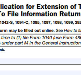 IRS Form 8809 Extension
